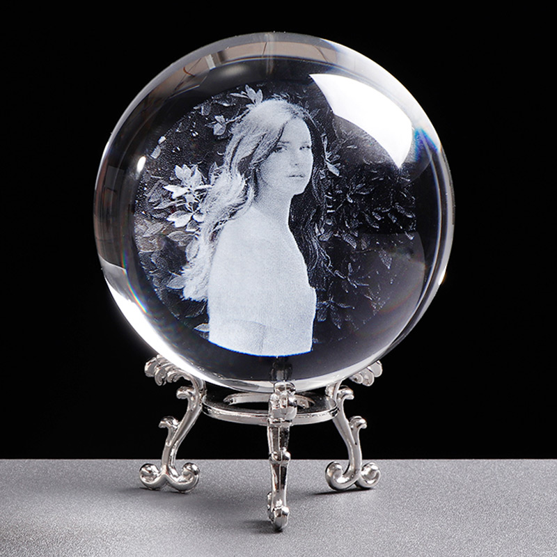 Personalized Crystal Photo Ball Customized Picture Sphere Globe Home Decor Accessories Baby Photo Gift for Girlfriend 8