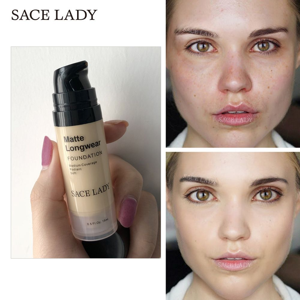 SACE LADY Full Cover Liquid Concealer Cream Foundation Base Makeup Face Waterproof Long Last Beauty Makeup Natural Cosmetic Tool
