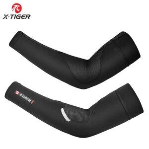 X-TIGER воздухопроницаемая ткань для льда Защита от ультрафиолетовых лучей рукав для бега баскетбольная налокотник для занятий спортом на отк...
