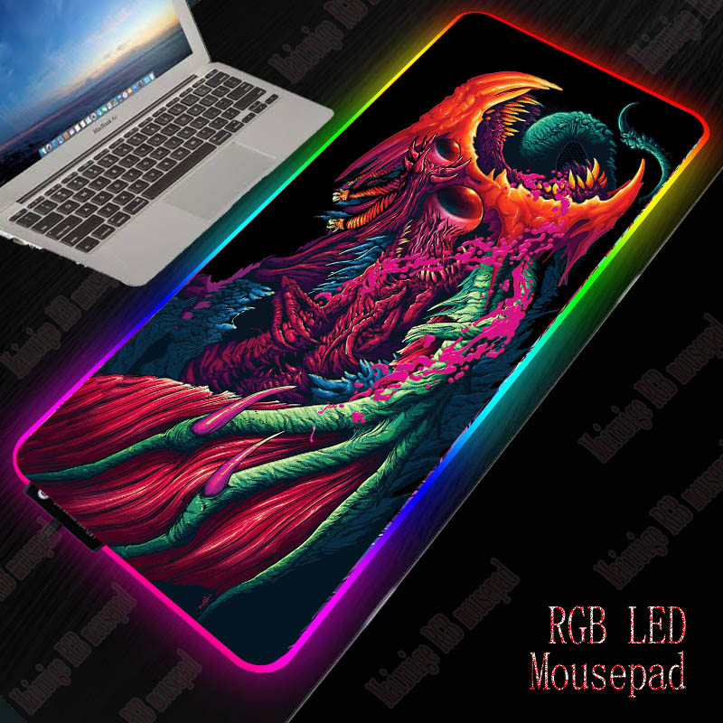 XGZ Gaming RGB Large Mouse Pad Gamer Big  Mat Computer Pad Led Backlight  Keyboard Desk   For CSGO Monster Style