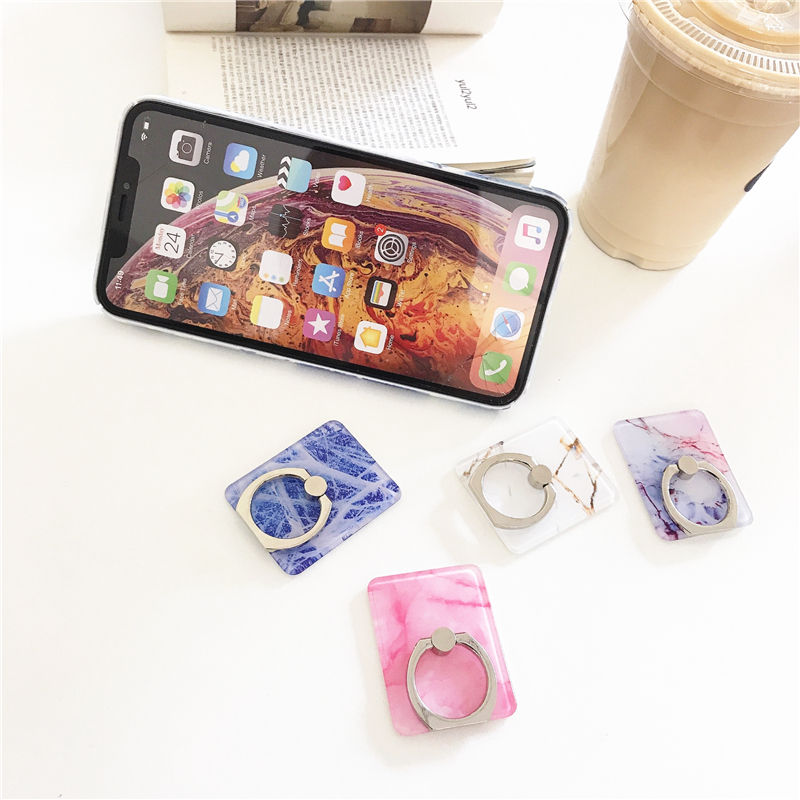 Image 4 - Mobile phone holder square bracket luxury marble bracket mobile phone bracket bracket 360 degree extended flat bracket-in Phone Holders & Stands from Cellphones & Telecommunications