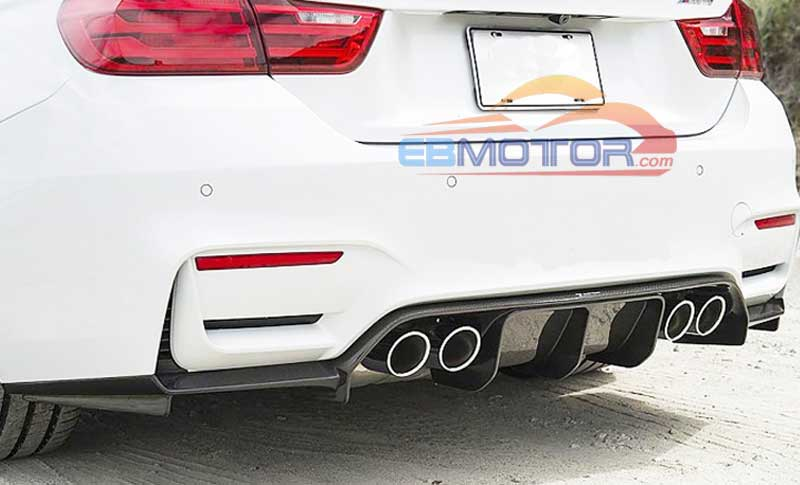 V Style Real Carbon Fiber Rear lip Diffusr For BMW F8X F80 F82 M3 M4 2014UP B255 image