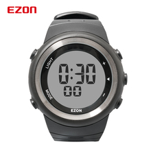 EZON T023 Mens Digital Sport Watch for Outdoor Running With Pedometer Chronograph Stopwatch Alarm Timer 50M Waterproof