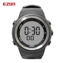 EZON T023 ผู้ชายดิจิตอลกีฬานาฬิกาสำหรับวิ่งกลางแจ้ง Pedometer Chronograph นาฬิกาจับเวลานาฬิกาปลุก 50M กันน้ำ