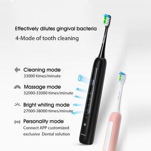 Image 5 - Lebooo Elektrische Sonische Tandenborstel App Controle Supersonic Beschermende Oplaadbare Sonic Trillingen Fourspeed Tandenborstel Van Huawei