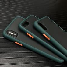 N1986N полночный зеленый чехол для телефона для iPhone 11 Pro X XR XS Max 7 8 Plus роскошный контрастный цвет матовый Жесткий Чехол для iPhone X 11