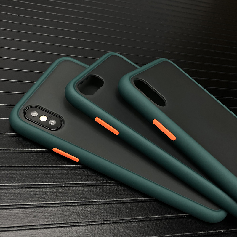 N1986N Midnight Green Phone Case For iPhone 11 Pro X XR XS Max 7 8 Plus Luxury Contrast Color Matte Hard PC For iPhone X 11 Case