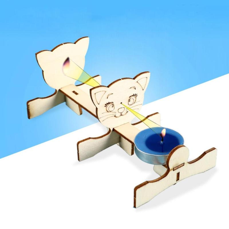 Creative Hole Imaging Materials DIY School Science Projects Teaching Equipment Educational Model Kit Wooden Experiment
