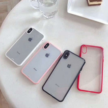 New sleek and simple transparent phone case for iPhone X XS XR XSMax 8 7 6 6S PluSTPU edge protection back cover