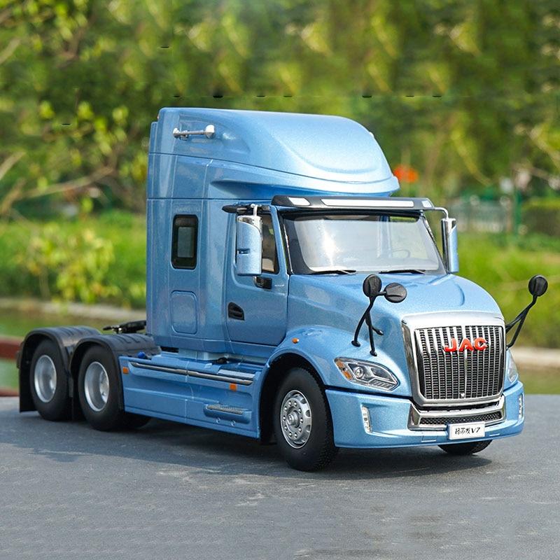 Diecast 1:24 JAC Geerfa V7 ciągnik amerykański Model ciężarówki stop pojazdu kolekcja dekoracji zabawki pamiątka Ornament wyświetlacz prezent