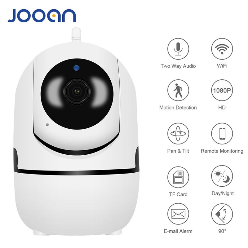 JOOAN 1080P  WiFi Wireless  IP Camera Security Home Network Video Surveillance Night Vision Smart Pet Camera Indoor Baby Monitor