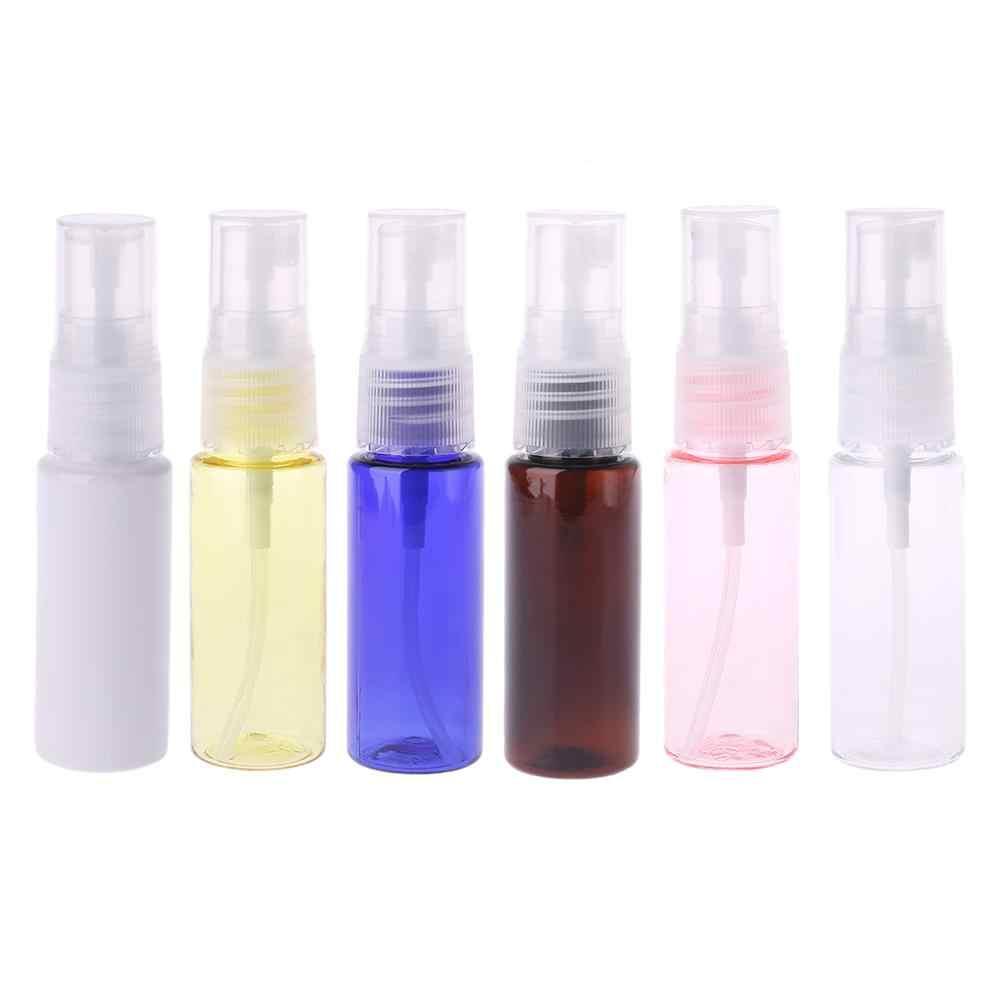 20ml Mini botella de plástico recargable de la bomba de la prensa botella de aerosol vacío líquido contenedor Perfume atomizador de viaje X7YB