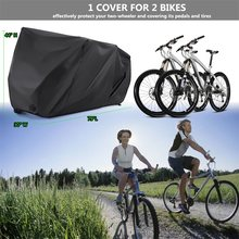 Waterproof Bicycle Cover Outdoor Tight Cycling Storage Snow Dust-Proof Protector for 2 Bikes Mountain Bike Accessories RL19-0012