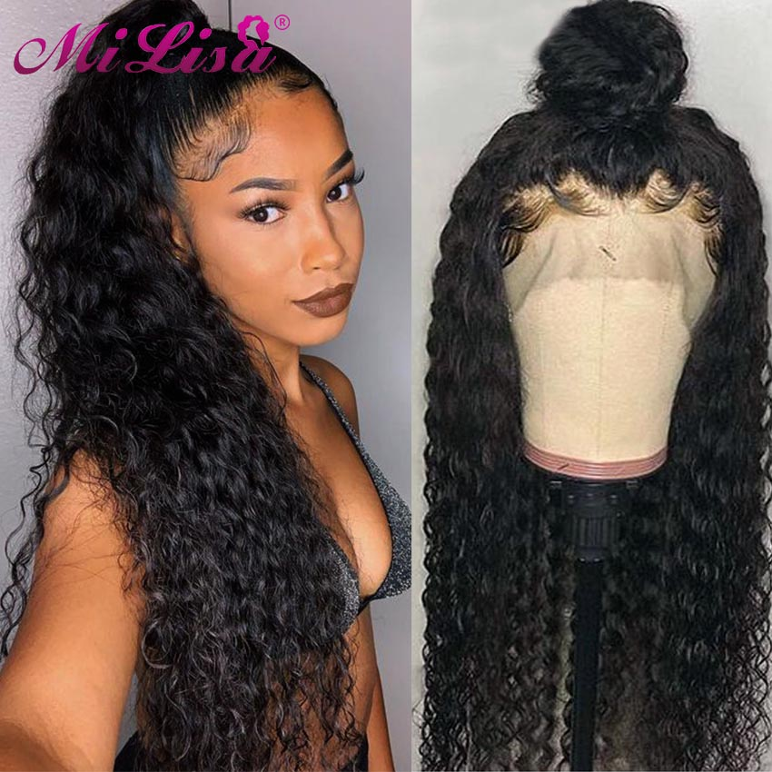 150% Density 360 Water Wave Wigs Brazilian 360 Lace Frontal Wigs Pre Plucked With Baby Hair Remy Human Hair Wigs For Black Women