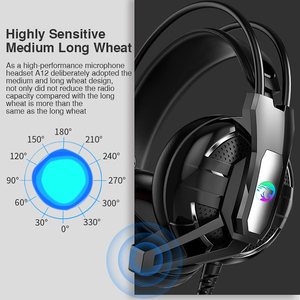 Image 5 - Gaming Headphones Headset Deep Bass Stereo wired gamer Earphone Microphone with backlit for Xbox one PS4 Mobile phone PC Laptop