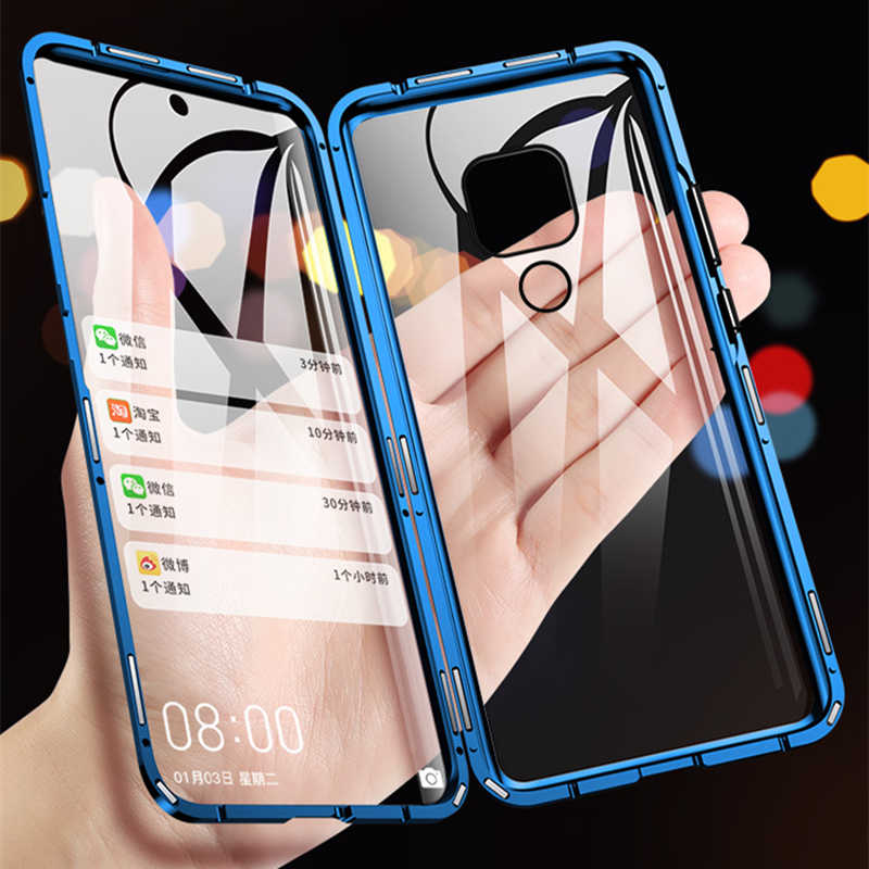 360 Full Protection Magnetic Cases For Huawei P30 P20 Pro lite Mate 20 Case Double sided Tempered Glass For Honor 10 8X 9X Cover