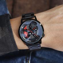 Уникальные спортивные мужские часы с автомобильным колесом в