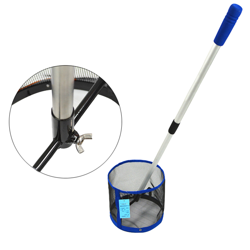 44~90cm Adjustable Telescopic Table Tennis Ball Picker 2 Section Aluminum Pole Table Tennis Picking Net Collection