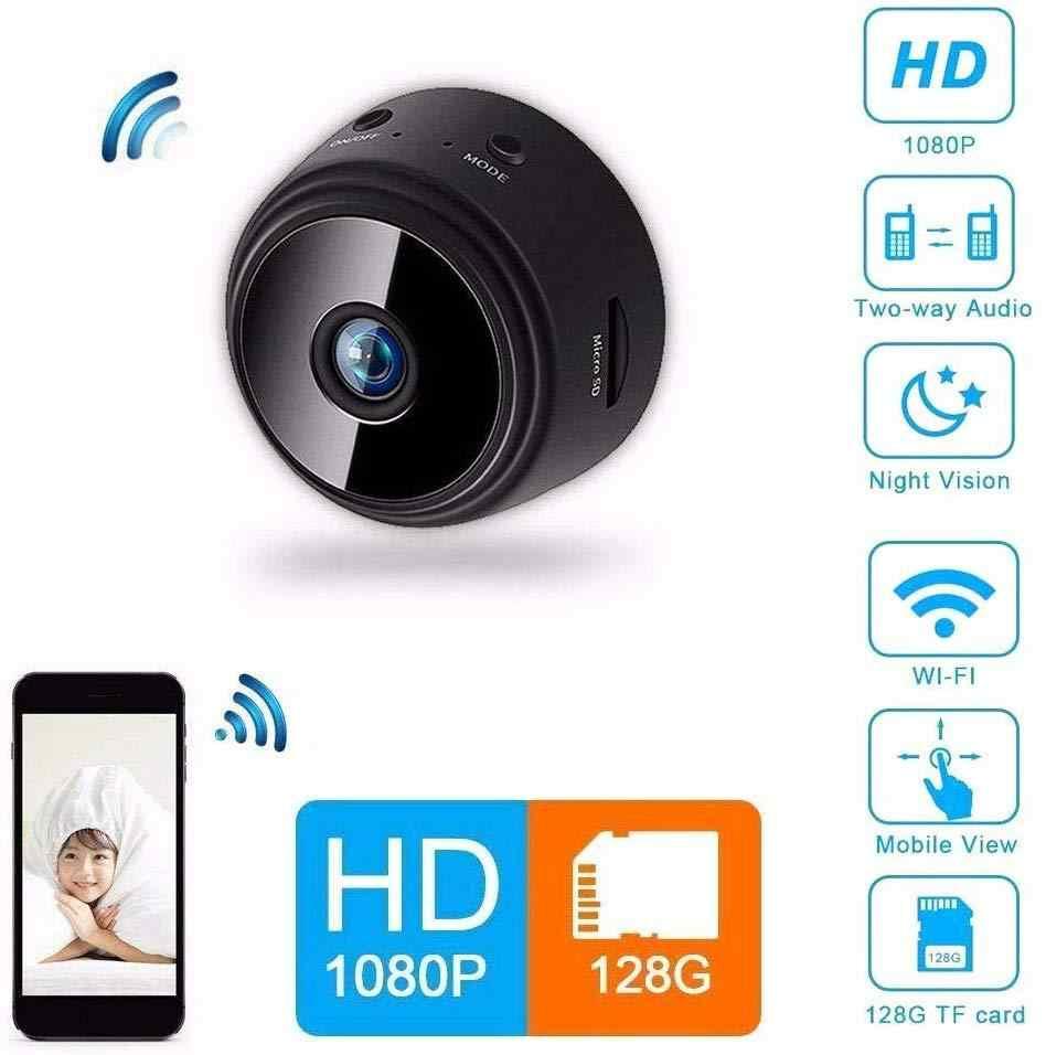 Mini cámara espía WiFi IP Videocámara de seguridad HD 1080P DVR Visión nocturna