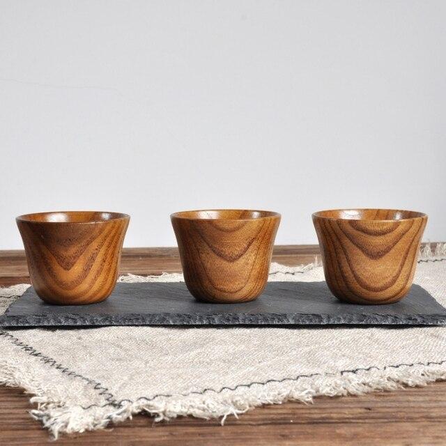 Natural Wood Cup Primitive Handmade Spruce Wooden Cup Breakfast Beer Milk Drinkware Green Tea Cup Water Coffee Mug 5