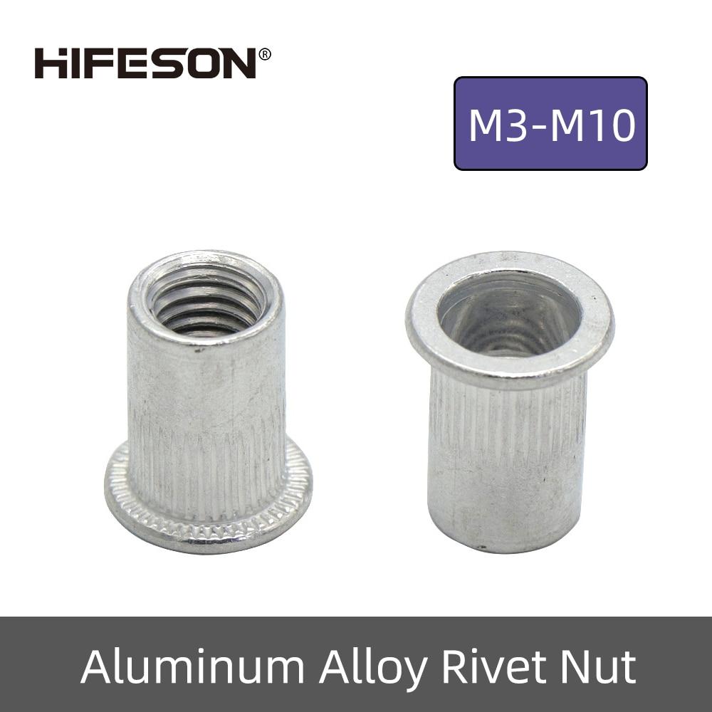 20Pcs M3 M4 M5 M6 M8 M10 Aluminum Alloy Rivnut Flat Head Threaded Insert Nutsert Cap Rivet Nut