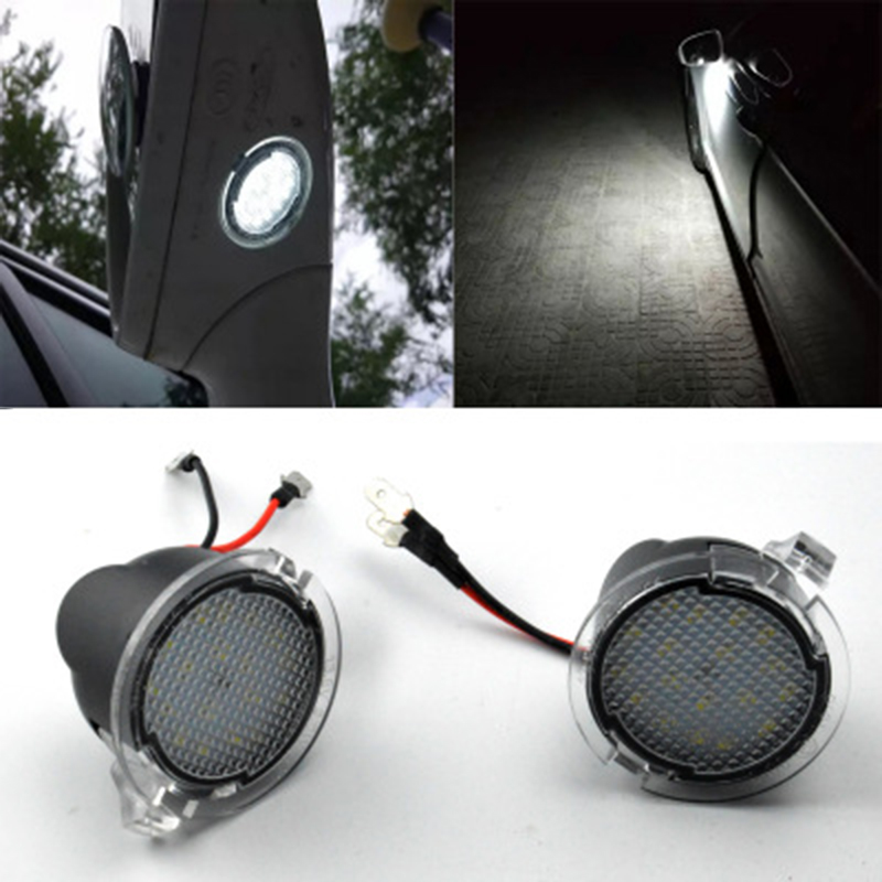 For Ford Rangers 15-17 Car Side Mirror Puddle Lights Luminous Bulbs Driving Lamp