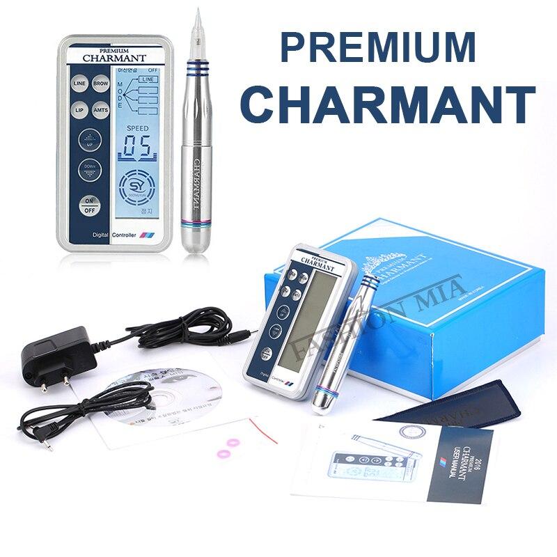 Microblading Charmant Tattoo Machine Kit Professional Rotary Tattoo Pen Electric Control Tattoo Gun For Eyebrow Lip Eyeliner Pen