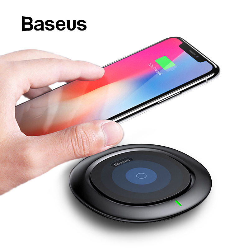 Baseus UFO Wireless Charger For IPhone X 8 XR Samsung Note 10 S10 S9 10W Qi Wireless Charging Pad For Huawei P30 Xiaomi Mi 8 9