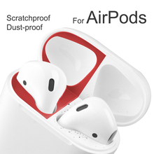 Metal Dust Guard for Apple AirPods Charging Case Accessory Protection Scratchproof Sticker Skin for Air Pods 2 1 Cover Stickers