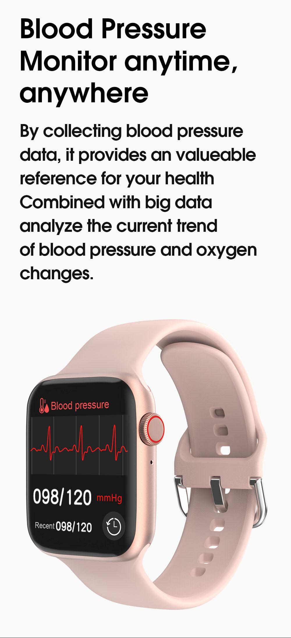 H706f30cffa014ff5ae0c0258dcc6fe1eD TREZER IWO W26+ Pro Smart Watch 1.75 Inch 320*385 Series 6 IPS Full Touch Screen Custom Watch Face Smartwatch Men Women PK HW22