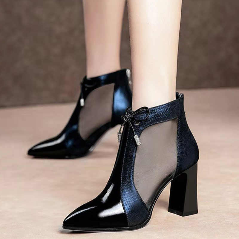 PU Botas Zapatos de mujer Zapatos de tacón alto botas cortas