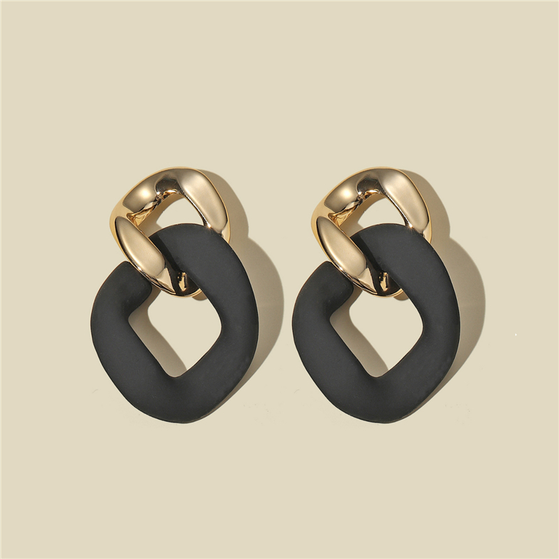 CWEEL черные массивные серьги для женщин богемные бохо серьги геометрические Висячие серьги Модные ювелирные изделия Необычные серьги