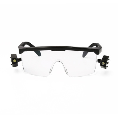 Factory brand sports protective glasses bicycle outdoor sports eyes with double lights with LED customized processing
