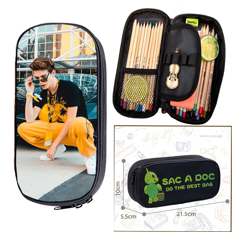 2020 Payton Moormeier Pencil Case Small Totes Boys Girls Hip Hop Makeup Bags Kids School Stationery Storage Bag Cosmetic Case