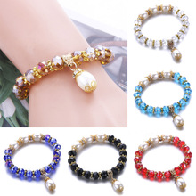 New Fashion charms jewelry Crystal Natural stone Bracelet pendant Faux Pearl Romantic Exquisite beaded Women's jewelry making