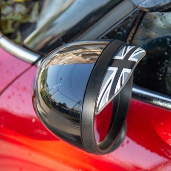 2 sztuk uniwersalny wyświetlacz tyłu samochodu lustro deszcz brwi odcień przegrody Visor wodoodporna pokrywa silikonowa dla Mini Cooper R56 R60 F54 F56 F60 tanie i dobre opinie Car Rearview Mirror Rain Shade Baffle