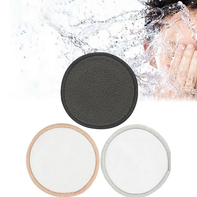 1Pcs Reusable Washable Round Bamboo Cotton Cloth Facial Makeup Remover Puff Pads  Clean Facial Skin Care