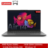 Lenovo-portátil Air14 2021 Ryzen, 14 pulgadas, 6 núcleos, 12 hilos, R5-5500U, 16G, 512G, SSD
