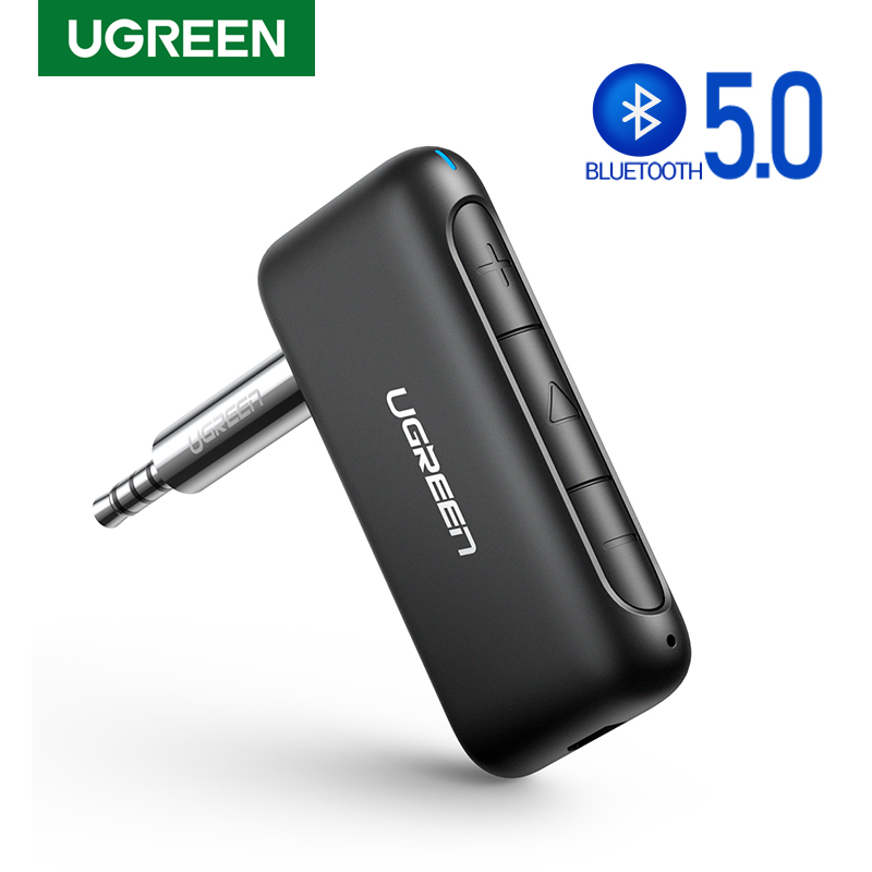 UGREEN Bluetooth Receiver For Car Portable Wireless Bluetooth 5.0 Audio Adapter 3.5mm Aux Stereo Output With Microphone Hi-Fi