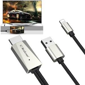 Image 3 - IOS الهاتف HDMI كابل HDTV USB AV محول الصوت والفيديو الناقل الحبل آيفون 11 12 5 6 7 8 Plus X XS ماكس XR باد الاتصال إلى التلفزيون