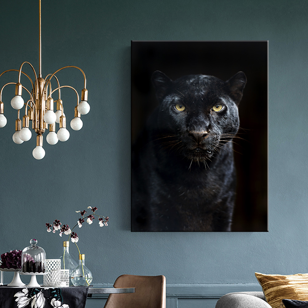 Animals Black Panther 5d diy diamond painting cross stitch mbroidery Handmade Full Square Drill Home decoration-1