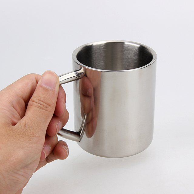 220ml Stainless Steel Mug Student Double Wall Mugs Travel Tumbler Coffee Tea Mugs Drinkware Handle Travel Cups 6