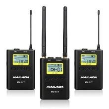 WM10 WM 9 WM8 UHF 무선 마이크 시스템 채널 Lavalier Lapel Mic 수신기 송신기 DSLR Canon Sony Recorder
