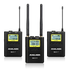 WM10 WM 9 WM8 UHF Wireless Microphone System Channel Lavalier Lapel Mic Receiver Transmitter for DSLR Canon Sony Recorder