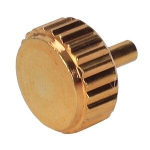Image 5 - Piezas de Repuesto de corona de reloj a prueba de agua surtidos de oro y plata Domo cabeza plana accesorios de reloj Kit de herramientas de reparación para relojero