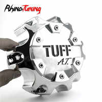 4pcs 135mm TUFF A.T. Tuff All Terrain Car Wheel Center Cap Hub Rim Cover C611902 Chrome Hubcaps Auto Accessories