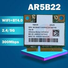 Atheros AzureWave AR9462 AR5B22 WB222 мини PCIe 300 Мбит/с + Bluetooth4.0 WLAN Wifi беспроводная карта