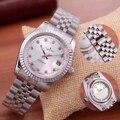 Luxe Merk Nieuwe Rvs Sapphire Waterdichte Horloges Mannen Automatische Mechanische Diamonds Zilver Goud Zwart Wit Datejust