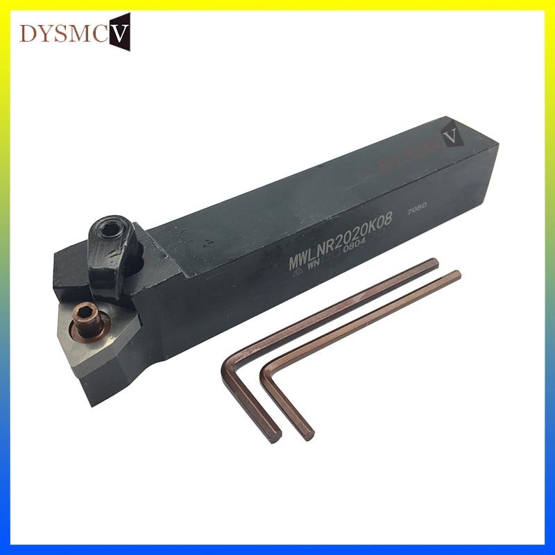 1 Piece MWLNR 2020K08 MWLNL2020K08 MWLNR1616H08 MWLNL 1616H08 95 Degree Cylindrical Knife With Cutting Tool