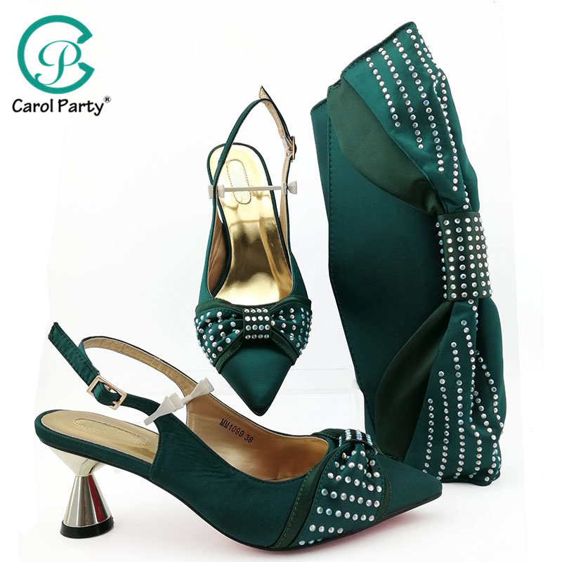 African Shoes And Bag Matching Set With wine Hot Selling Women Italian Shoes And Bag Set